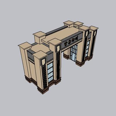 大门 造形门   (6)