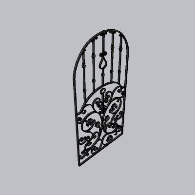 大门 铁艺门3