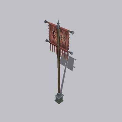 古建 杆子 桅杆2 (3)