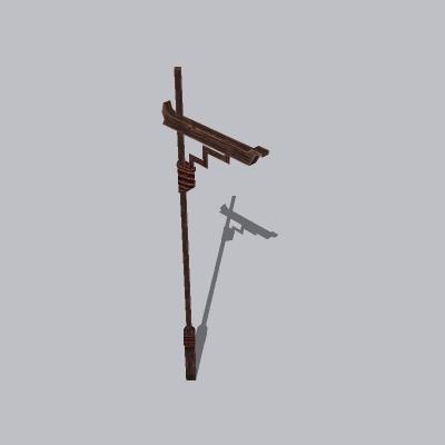 古建 杆子 桅杆2 (7)