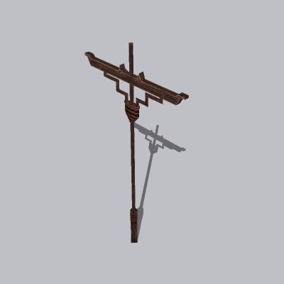 古建 杆子 桅杆2 (8)
