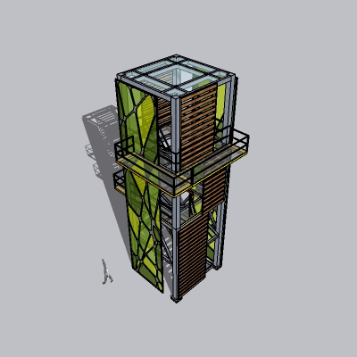(景观台SU模型) (3)