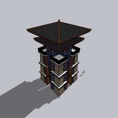 (景观台SU模型) (6)
