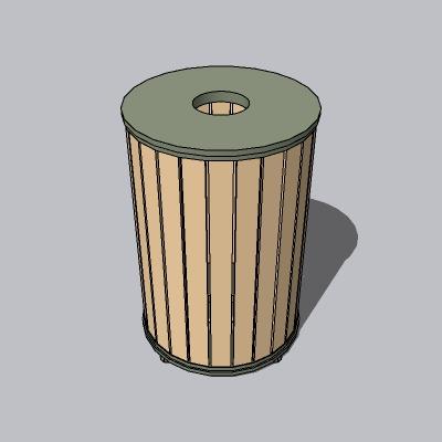 垃圾桶-简单木材