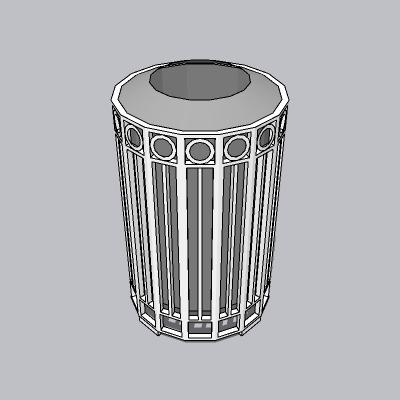 垃圾桶-铁艺围网