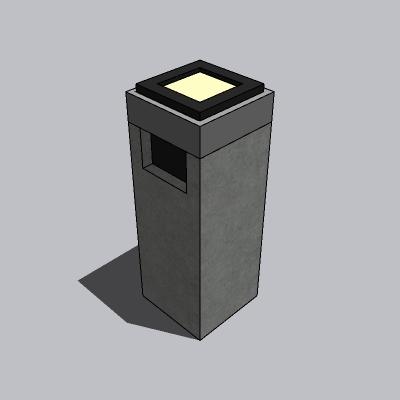 垃圾箱-石材