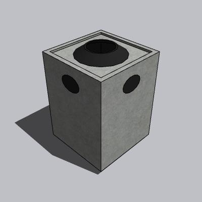 垃圾箱-石材-大号