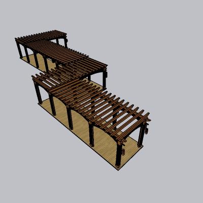中式古典廊架 (46)