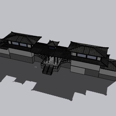 中式廊架 (2)