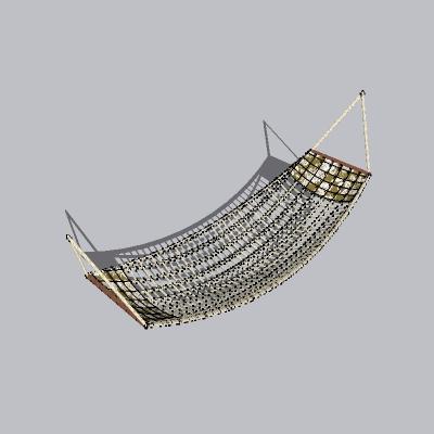 休闲吊床SU精致设计模型