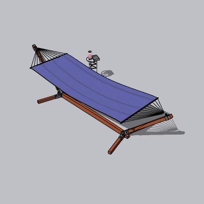 木制小吊床SU模型