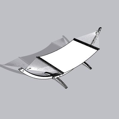 现代户外吊床SU模型-