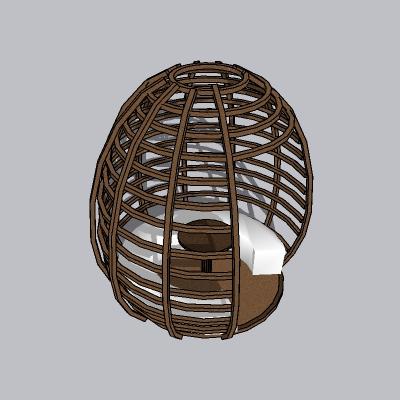 简约精美型吊椅的SU模型