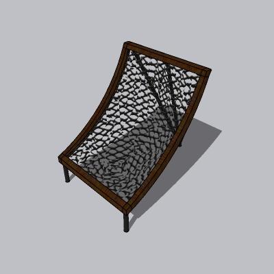 网椅子吊网凳SU模型