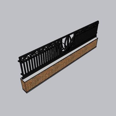 围墙 栅栏