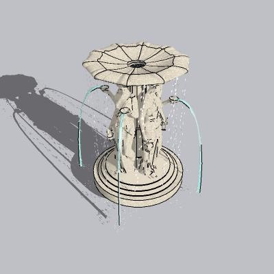 喷泉流水小品 (1)