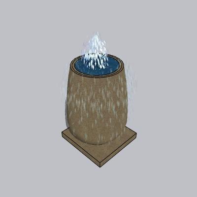 喷泉流水小品 (100)
