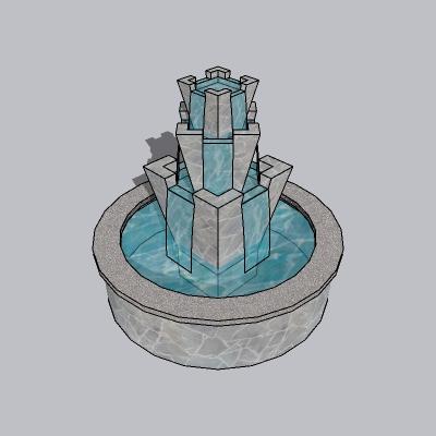 喷泉流水小品 (16)