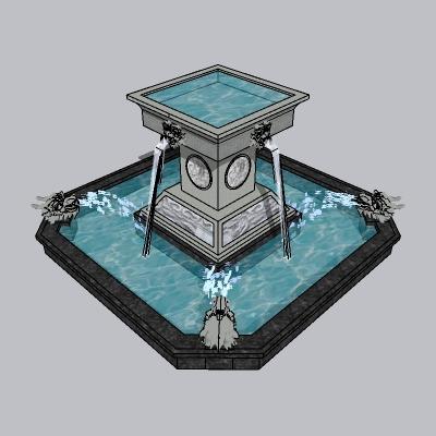 喷泉流水小品 (17)