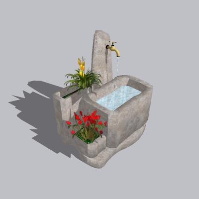 喷泉流水小品 (42)