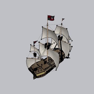 帆船海盗船商船