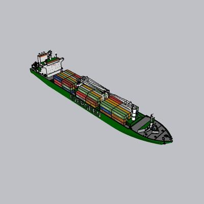 大型货船SU模型
