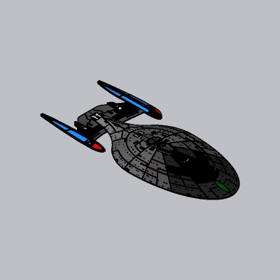 未来科幻飞船SU模型2