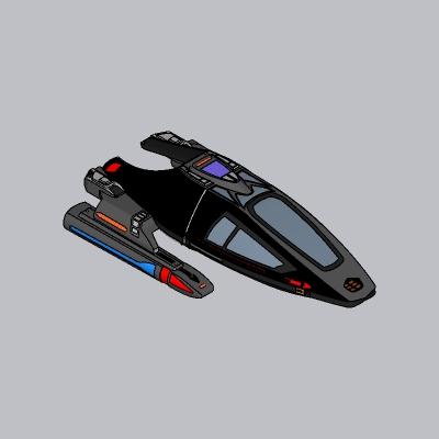 未来科幻飞船SU模型3