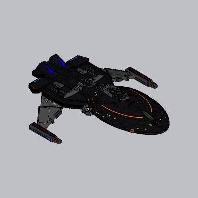 未来科幻飞船SU模型4