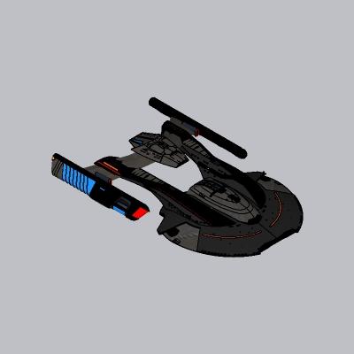 未来科幻飞船SU模型5