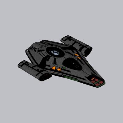 未来科幻飞船SU模型6