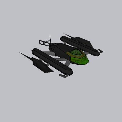 科幻飞船SU模型