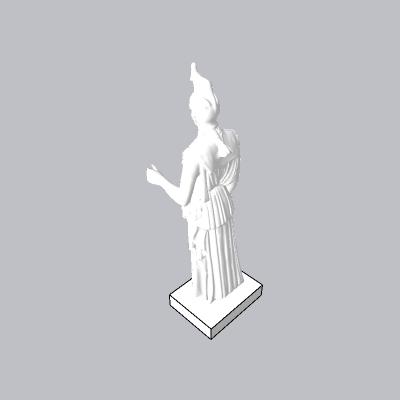欧式女雕塑   3dmax