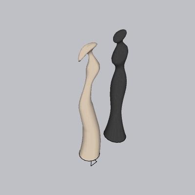 木头人型抽象雕塑-www.52edy.com