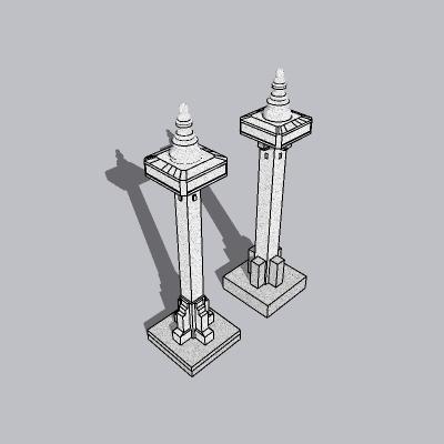 中式景观柱 (8)