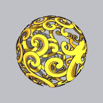 球形雕塑 (21)