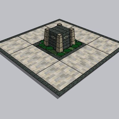 雕塑台座 (5)