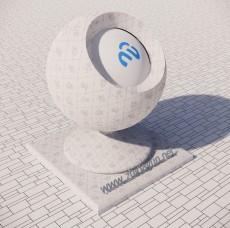 花纹墙纸406_Sketchup材质