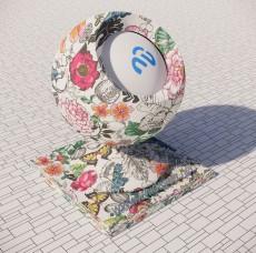 花纹墙纸88_Sketchup材质