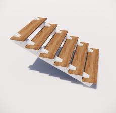 单跑式楼梯_001_景观设计模型