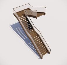 多跑式楼梯_002_景观设计模型
