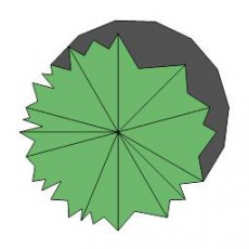 平面植物_007_景观设计模型