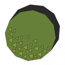 平面植物_025_景观设计模型