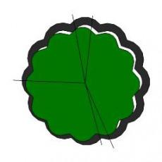 平面植物_043_景观设计模型