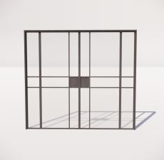 推拉门_001_室内设计模型