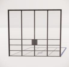 推拉门_002_室内设计模型