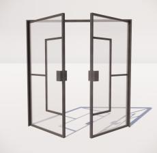 推拉门_004_室内设计模型