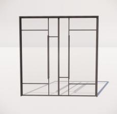 推拉门_005_室内设计模型