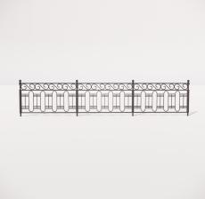 栏杆扶手_001_景观设计模型
