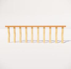 栏杆扶手_002_景观设计模型